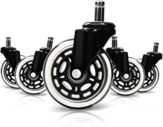 Optimum Orbis Office Chair Caster Wheels Heavy Duty Safe for All Floors Including Hardwood Perfect Replacement for Desk Floor Mat Rollerblade Style 3