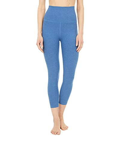 Beyond Yoga Spacedye High Waisted Capris (Washed Denim) Women