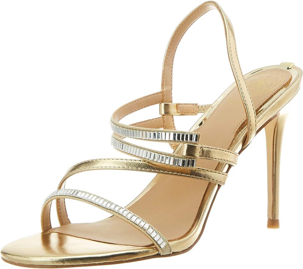 Guess,sandali con il tacco per donna, in vera pelle scamosciata FL6DN2LEL03