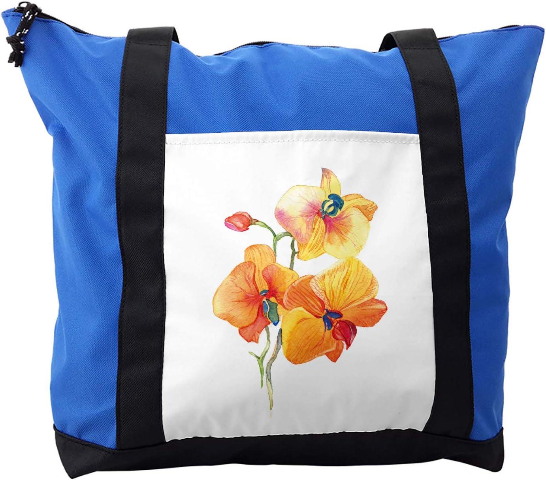 Ambesonne Garden Shoulder Bag, Orchid Petal Wild Exotic, Durable with Zipper