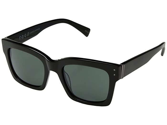 VonZipper Roscoe (Black Gloss/Vintage Grey) Fashion Sunglasses
