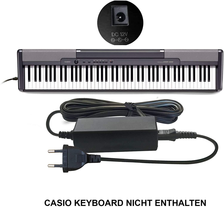 ABC Products® para Casio Fuente de alimentación, adaptador de red, conector DC 12 V/12 V (AD de 12 m3, AD de 12mla (U), AD de 12mla, AD a50-a-12 m, AD de 12ul,