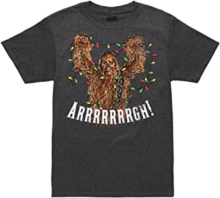 Star Wars Chewbacca Christmas Lights Tangle Adult T-Shirt