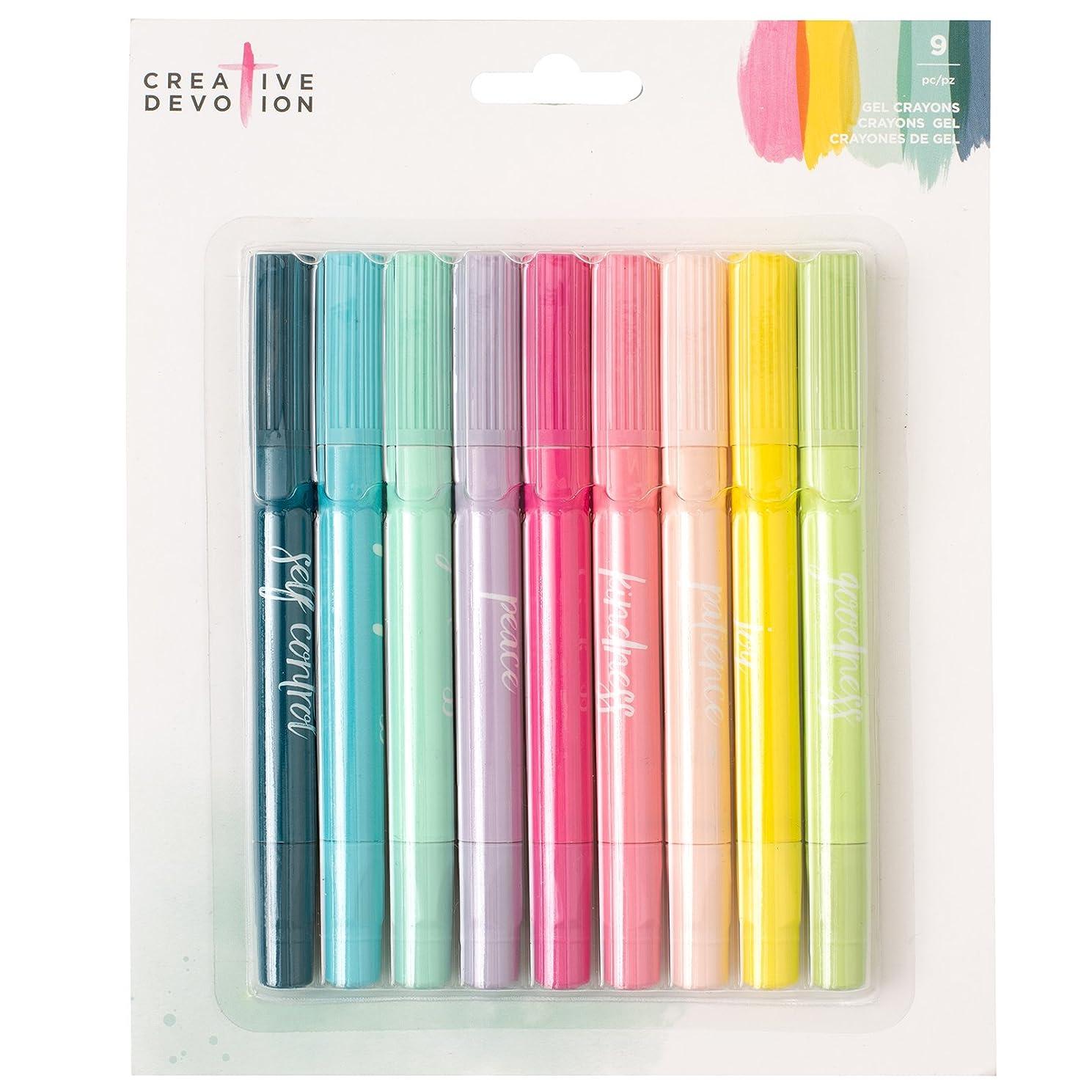 American Crafts 9 Piece Gel Crayons Creative Devotion