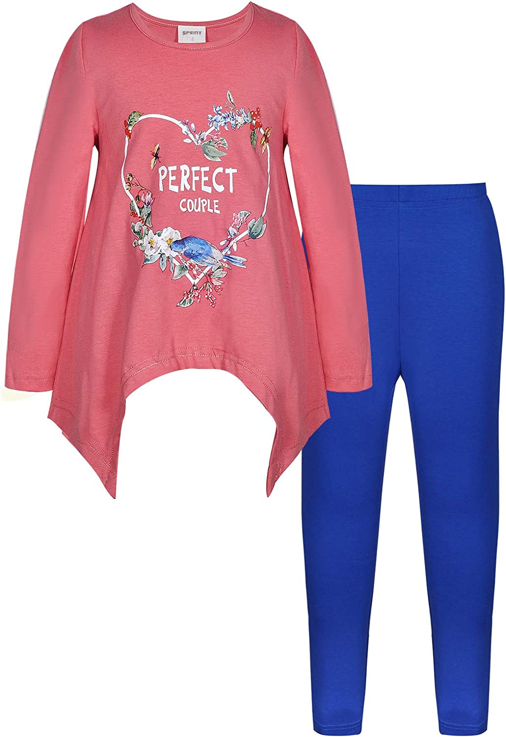SPEINY Girls' Clothes Printed Albuquerque Mall Long Casual Sleeve Jersey T-shirt Regular discount