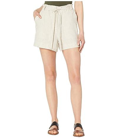 Vince Camuto Tie Waist Linen Shorts (Natural) Women