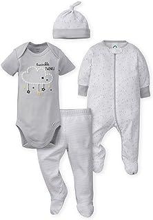 Gerber Baby Boys' 4-Piece Sleep 'N Play, Onesies, Pant and Cap