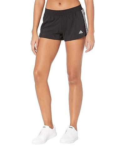 adidas Pacer 3-Stripes Woven Shorts (Black/White) Women