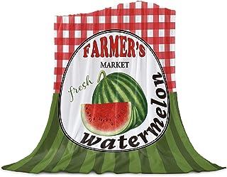Infinidesign Watermelon Throw Blankets, Lightweight Flannel Blanket, Bedding Supplies for Indoor Outdoor Sofa Chair Bed Ca...