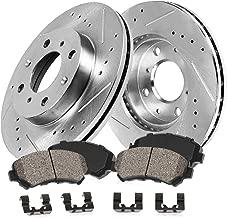 Callahan CDS02939 FRONT 260mm D/S 4 Lug [2] Rotors + Ceramic Brake Pads + Clips [ 2012-2015 Nissan Versa ]