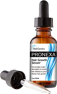 Pronexa Topical Hair Loss Serum by Hairgenics Stops Hair Loss and Accelerates Hair Growth and Hair Regrowth in Balding and Thinning Areas. 1 FL OZ.