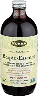 Flora Respir Essence Herbal Respiratory Relief Tonic - Supports Healthy Lung Functions - Non GMO, Vegan & Gluten Free