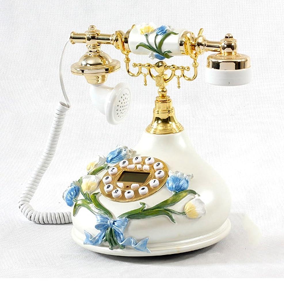大きなスケールで見るとツール負固定電話 チューリップファッション創造的な電話韓国の電話アンティーク電話パーソナリティの固定電話