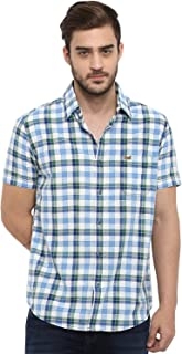 Mufti Men's Checkered Slim fit Casual Shirt
