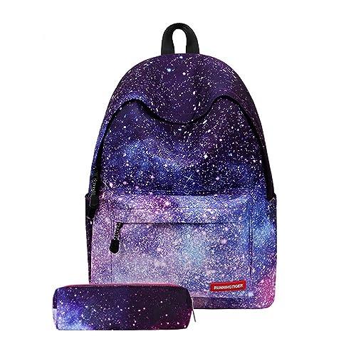 TTD Galaxy patrón niños niñas chicos escuela Mochila bolsa liviana-peso para senderismo viajes camping Escuela-Estrellas