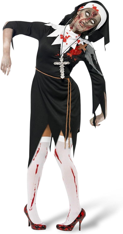 Ladies Zombie Mary Dead Nun Religious Horror Halloween Fancy ...