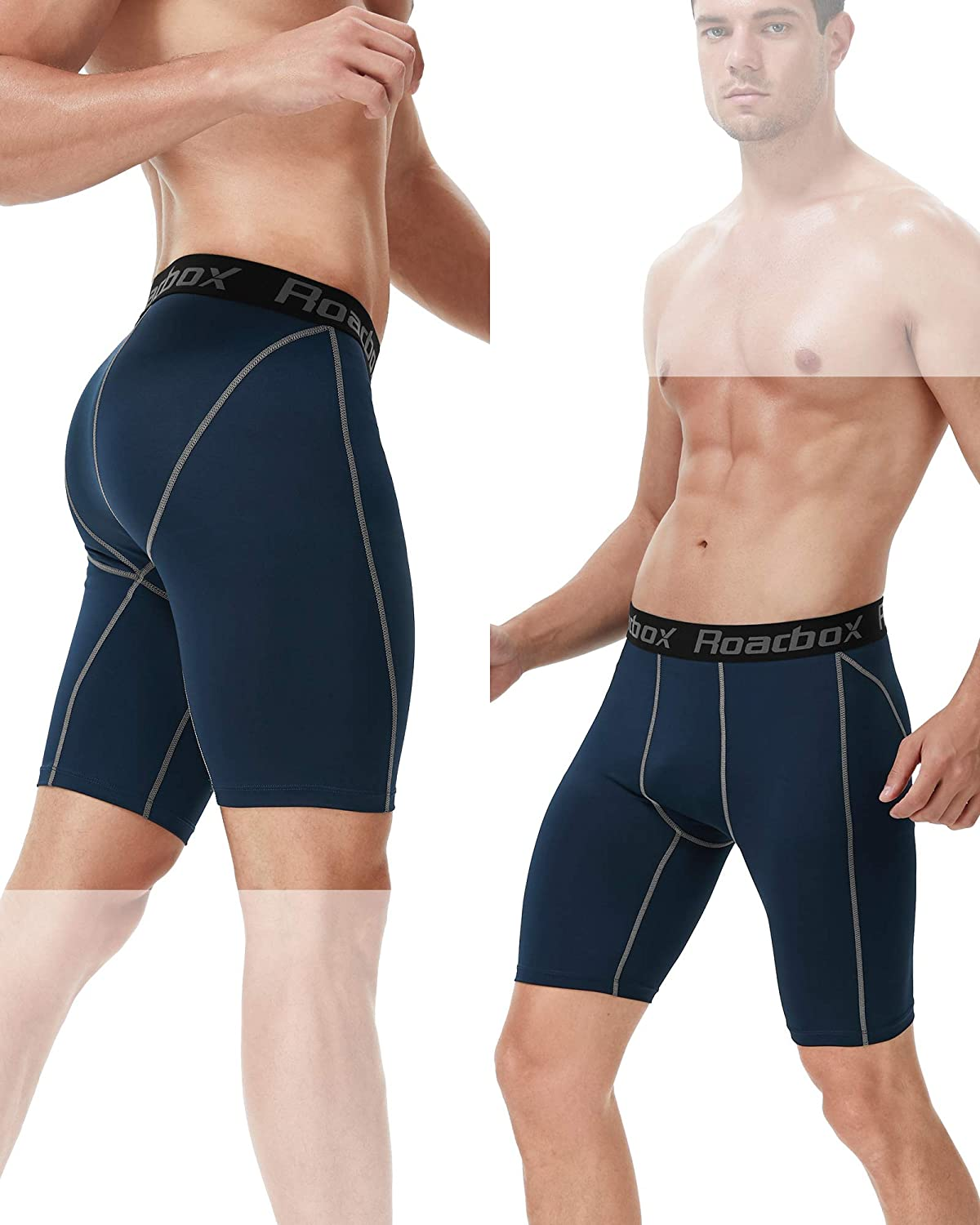 Cycling Gym Rugby Quick-Drying Fabric Protect Leg Skin Roadbox Compression Shorts Men 3 Pack Base Layer Shorts Shorts for Running