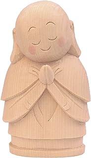 木彫仏像 お地蔵さん 15cm桧木 9452