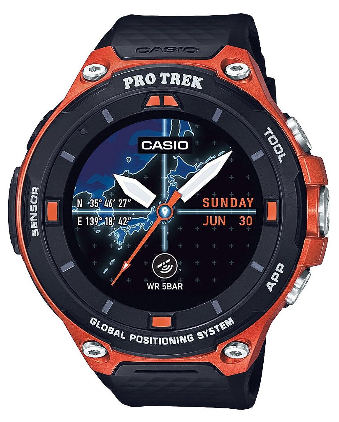 カメラ分ぴったり[カシオ]CASIO スマートアウトドアウォッチ プロトレックスマート GPS 搭載 WSD-F20-RG メンズ