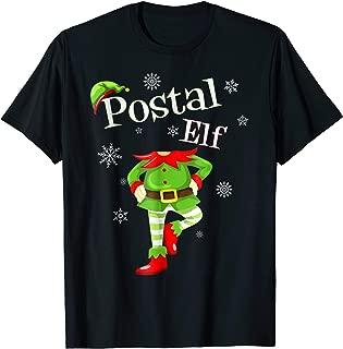 Postal Elf Funny Mailman Christmas T-Shirt Holiday Tee