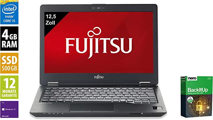 Fujitsu LifeBook U727 Notebook Laptop 12 5 Zoll Intel Core i5-6200U 2 3 GHz 4GB DDR4 RAM 500GB SSD Windows 10 Pro Inkl Dockingstation General berholt Schätzpreis : 749,00 €