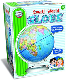 Small World Toys Junior Scientist 8 Inch World Globe - Glossy Map Finish