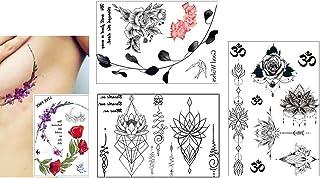 4 Bögen Trend Tattoos Flash Tattoos Blumen Lotusblumen Unde