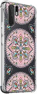 Suhctup Funda Compatible con Huawei Honor 20 Pro Carcasa Transparente,Dibujo Diseño Flor [Protección Caídas] Ultra-Delgado Flexible Silicona TPU Estuche Cover para Huawei Honor 20 Pro,Mandala 1