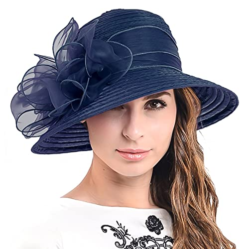 HISSHE Ascot Derby Bowler Church Cloche Hat Bowknot Bridal Dress Party Cap  S051 df352583715