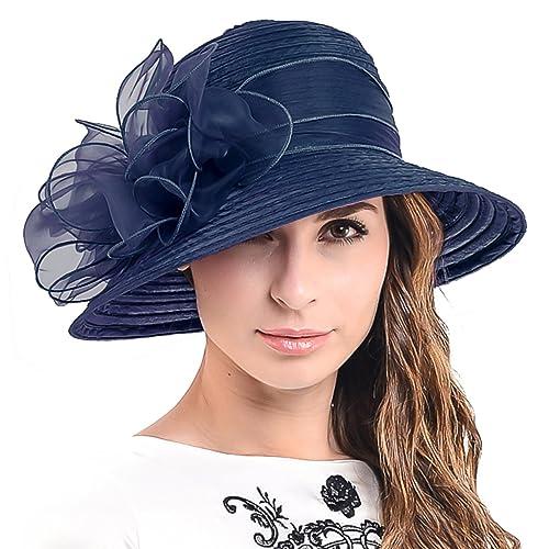 c41ca7ba HISSHE Ascot Derby Bowler Church Cloche Hat Bowknot Bridal Dress Party Cap  S051