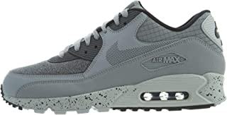 Men's Air Max 90 Premium Wolf Grey/Dark Grey-Black-Pure Platinum 700155-016 (Size: 9)