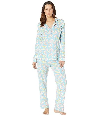 BedHead Pajamas Long Sleeve Classic Notch Collar Pajama Set (Citrus) Women