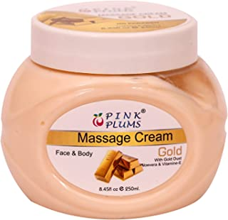 PINK PLUMS Gold Massage Cream with Vitamin E 250 ml