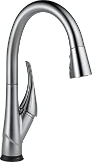 Delta Faucet Esque Single-Handle Touch Kitchen Sink Faucet with Pull Down Sprayer, Touch2O and ShieldSpray Technology, Magnetic Docking Spray Head, Arctic Stainless 9181T-AR-DST