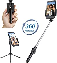 Mini Selfie Stick Tripod, Extendable Phone Selfie Stick with built-in Wireless Remote and Detachable Mini Tripod Stand, for iPhone 11 Pro Max/ 11 Pro/11/XS, Galaxy Note 10 Plus/ S10 Plus, More (Black)