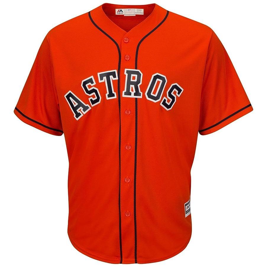 Majestic Houston Astros Alternate Orange Cool Base Men's Jersey (Small)
