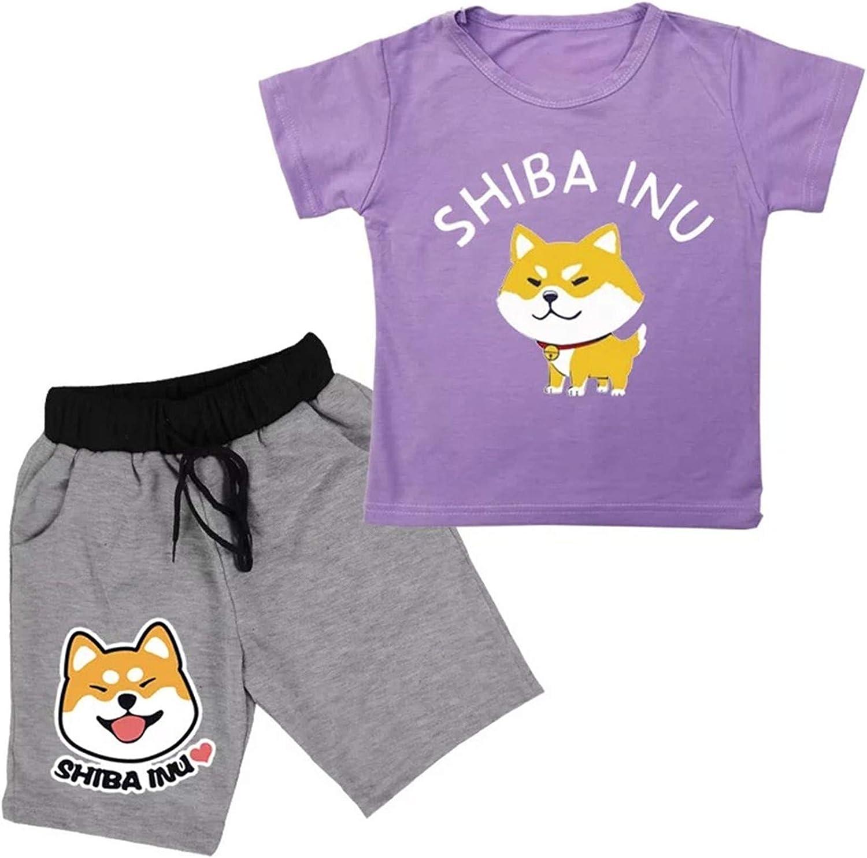 XMTIHE Kids Boys Girls 2 Piece Shorts Set-Summer Short Sleeve T-Shirt and Sport Shorts
