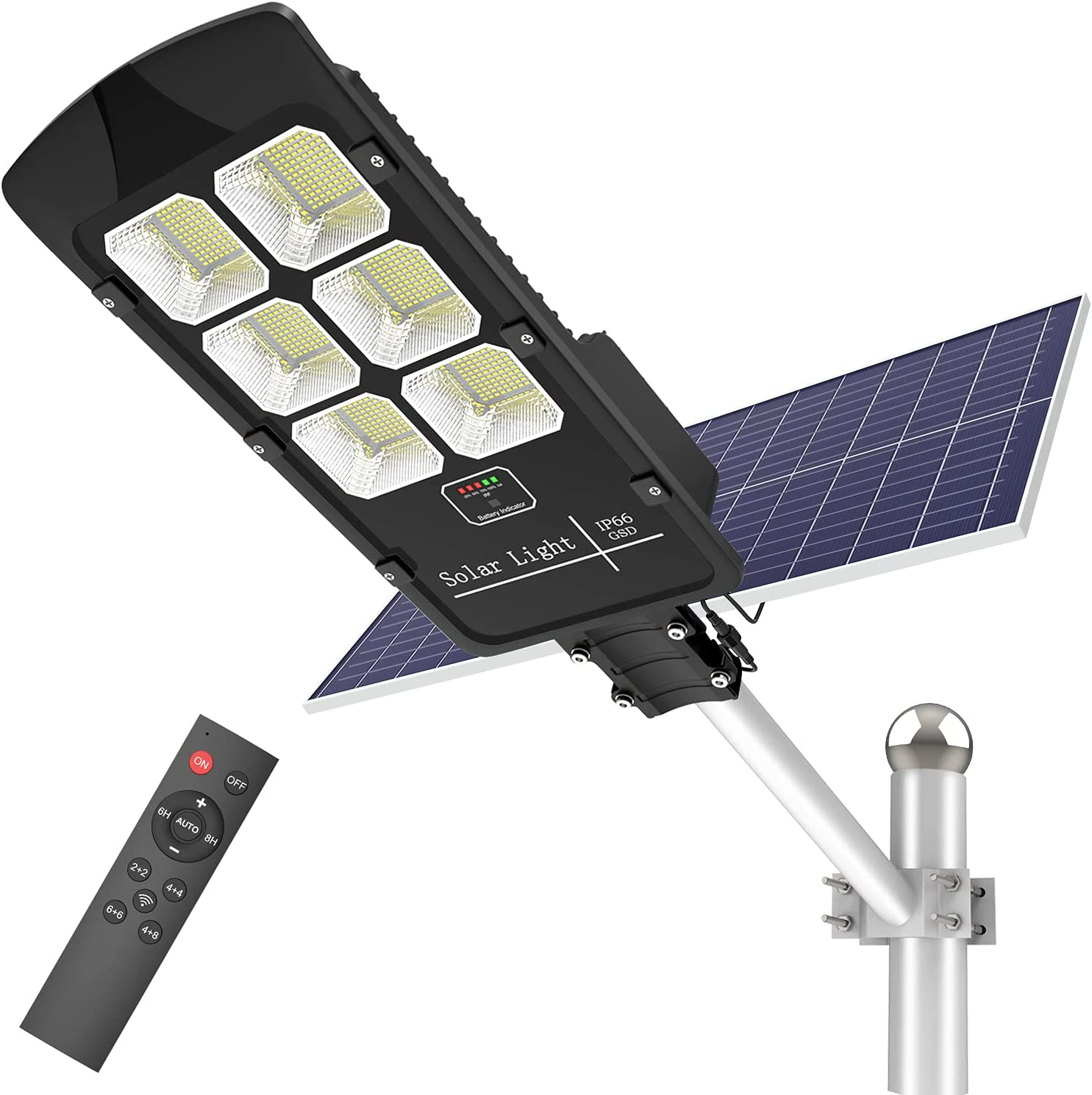 500W Solar Street Lights Outdoor Dawn Max 43% OFF 30000 Dusk Lumens 5 ☆ popular to