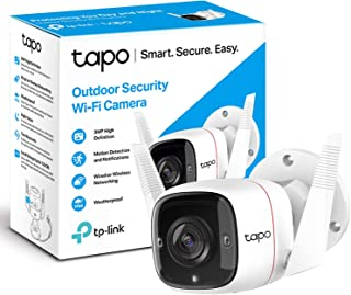 TP-Link Tapo Outdoor Security Camera/CCTV, Weatherproof, No Hub Required, Compatible with Alexa&Google Home, 3MP High Defi...