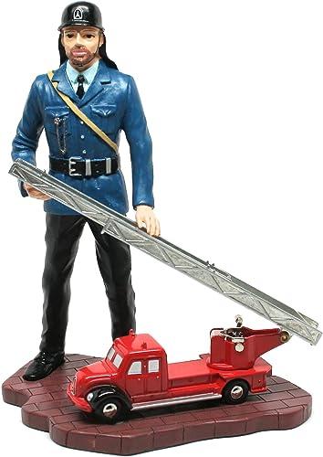 Schuco Piccolo 01232 Feuerwehrmann mit Magirus Drehleiter [Spielzeug]