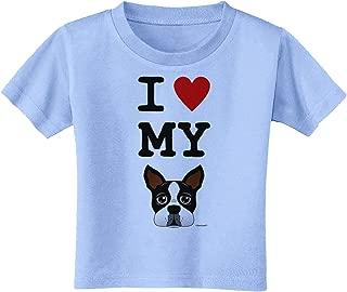 I Heart My Boston Terrier Toddler T-Shirt