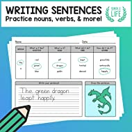 Practice Writing Sentences – Using Nouns, Verbs, Adjectives, and Adverbs – No Prep Worksheet Pack