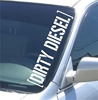 Dabbledown Decals Large Dirty Diesel Version 101 Car Truck Window Windshield Lettering Decal Sticker Decals Stickers JDM Drift Dub Vw Lowered Jdm Fresh Detailed Stance Fitment 4x4