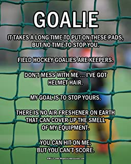 """Posters and Prints by Magnetic Impressions Unframed Field Hockey Goalie 8"""" x 10"""" Sport Poster Print"""
