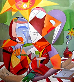 """Pintura Original Lienzo al Óleo Arte Abstracto Moderno """"MADRE E HIJA"""" por DOBOS, Cuadro para Decoración del Hogar, sala de..."""