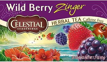 Celestial Seasonings Herbal Tea, Wild Berry Zinger, 20 Count (Pack of 3)