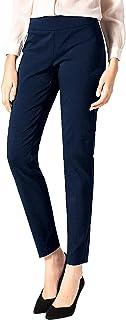 SATINATO Women's Straight Pants Stretch Slim Skinny Solid...
