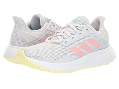 adidas Kids Duramo 9 (Little Kid/Big Kid) (Dash Grey/Glory Pink/Yellow Tint) Girl