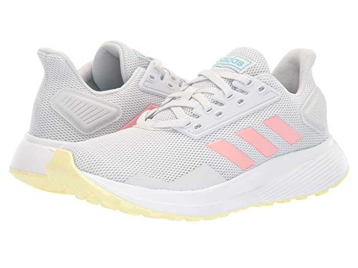 adidas Kids  Duramo 9 (Little Kid/Big Kid) (Dash Grey/Glory Pink/Yellow Tint) Girls Shoes