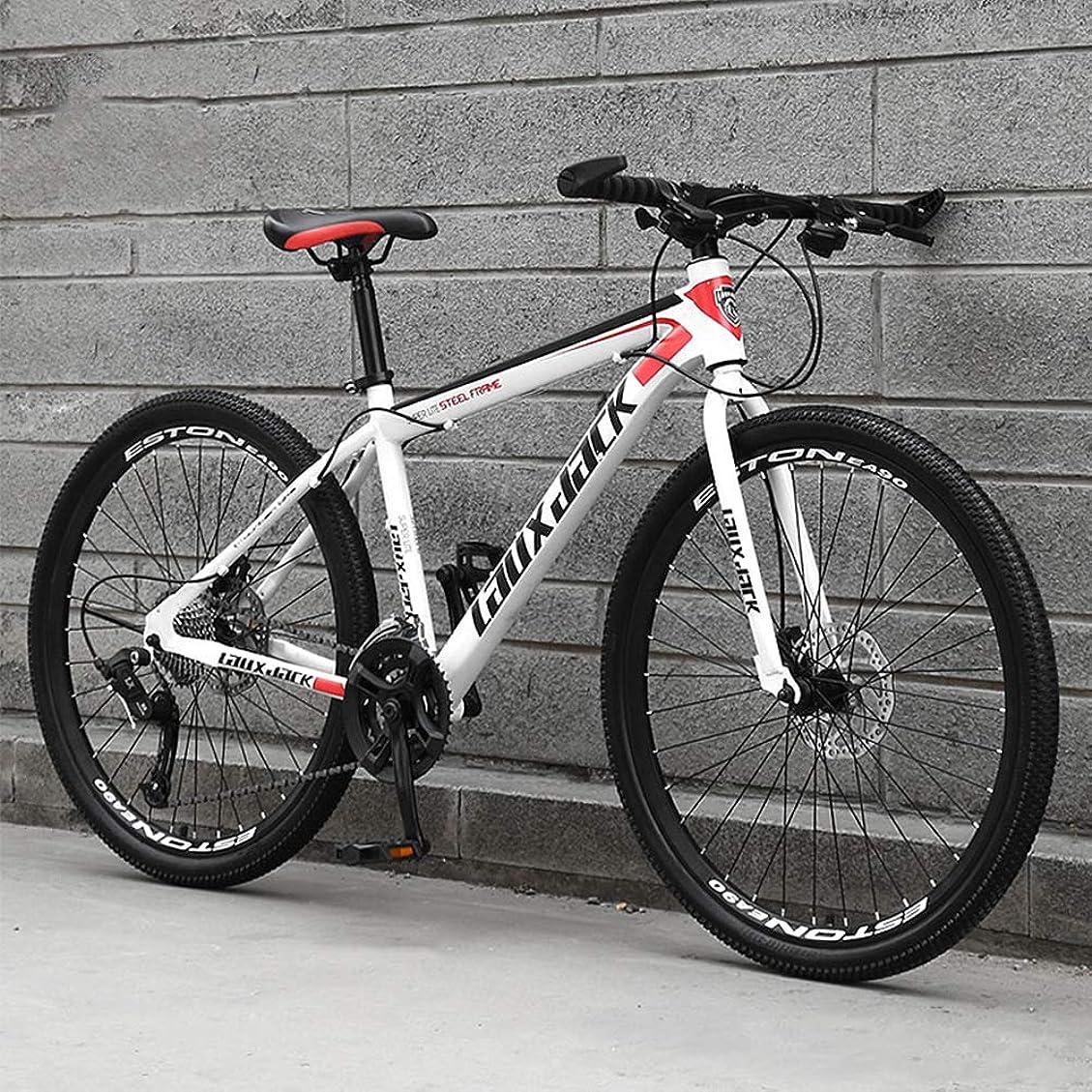 友だち同一の一般ロードバイク27スピードギアロード自転車デュアルディスクブレーキ自転車スポークホイール,24inch